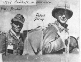 Photograph from the album of the Kurt Straszewski Collection, titled '1941 Ankunft in Australien' (1941 arrival in Australia) Source: Tatura Irrigation and Wartime Camps Museum