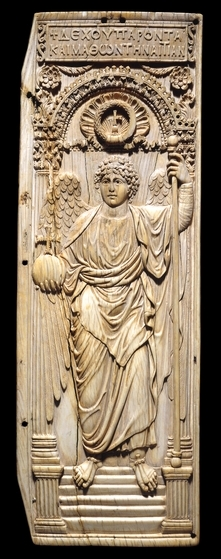 Byzantine ivory panel showing an archangel. Source: British Museum.