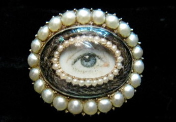"""Georgian eye ring from the MAAS exhibition """"A Fine Possession: Jewellery & Identity""""."""