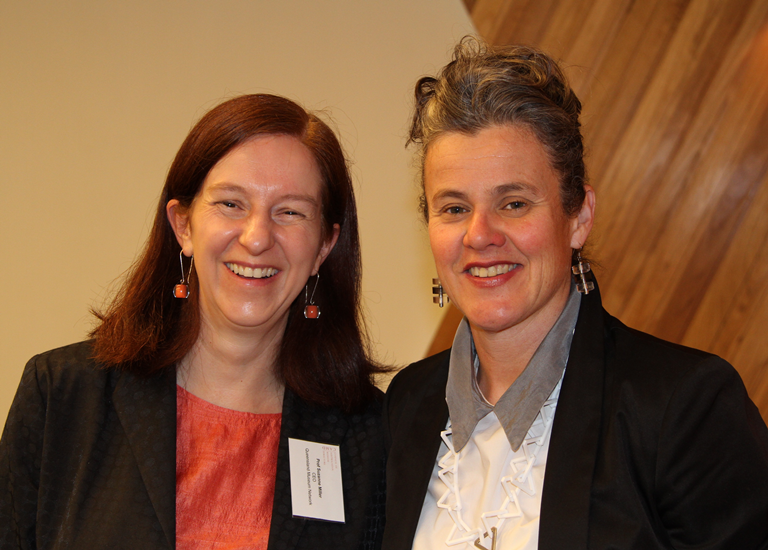 Prof Suzanne Miller, CAMD Chair (CEO, Queensland Museum Network) and Rose Hiscock, Director, Museum of Applied Arts and Sciences