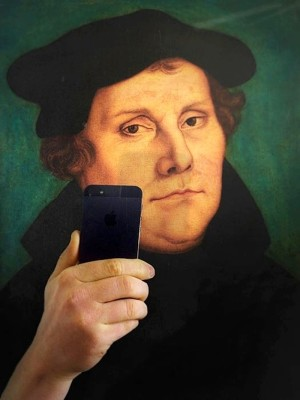 The Klassik Stiftung Weimar in Germany shared this #MuseumSelfie from Martin Luther himself. Photograph: @kosmosweimar
