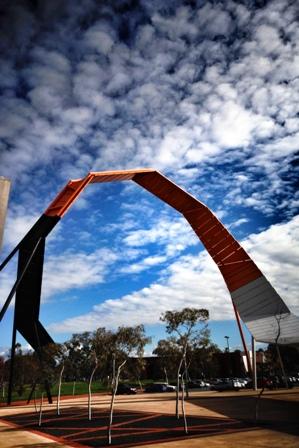 National Museum of Australia forecourt. Photo: M. Foley.