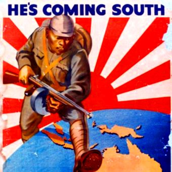 The Australian War Memorial also holds WWII propaganda in its collection, including this Australian poster referring to the threat of Japanese invasion.