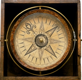 Cut out to white of A5797, Mariner's Compass