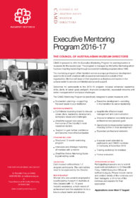 CAMD Executive Mentoring Program 2016 Flyer