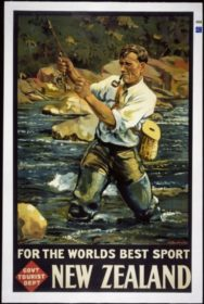 Image: MA (Maurice) Poulton, For the World's Best Sport, 1936. Lithograph, Tourist Department, 1000 x 600mm